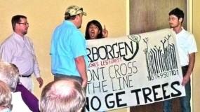 Protestors disrupt GE trees corporate event (2014).
