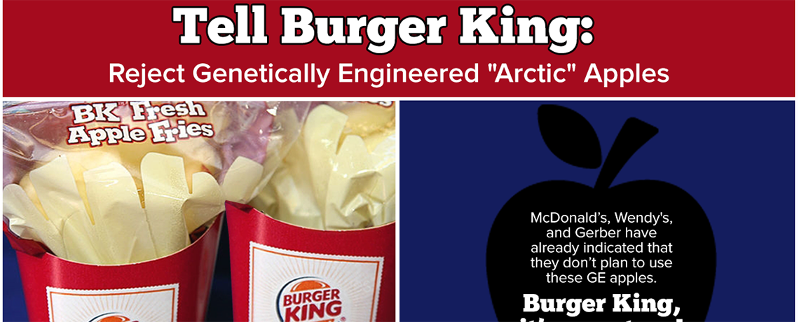 Tell Burger King to Say 'No' To GE Apples